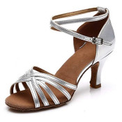 shoes silver latin dance